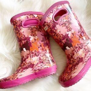 HUNTER Kids' Waterproof Rain Boots Pink Toddler 13